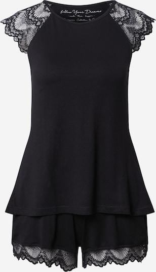 ESOTIQ Kort pyjamas 'ENEA' i svart, Produktvy