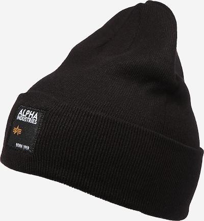 ALPHA INDUSTRIES Čiapky - čierna / biela, Produkt