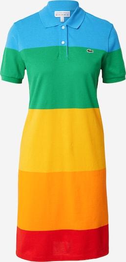 LACOSTE Robe en bleu clair / jaune / vert / orange / rouge, Vue avec produit