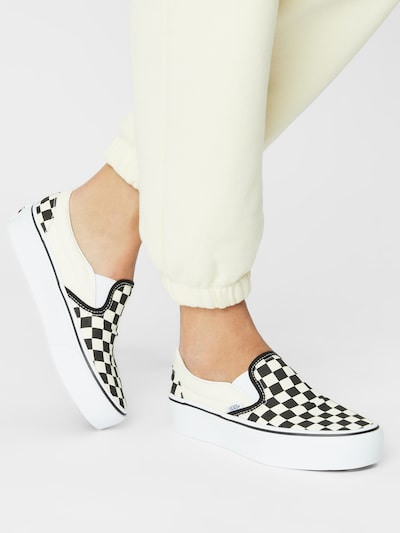 fekete / természetes fehér VANS Belebújós cipők 'UA Classic': Elölnézet