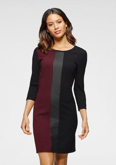 LAURA SCOTT Dress in Blood red / Black, View model