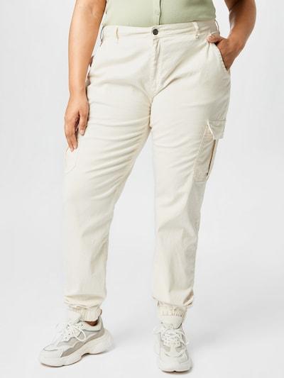 Urban Classics Klapptaskutega püksid valge, Modellivaade