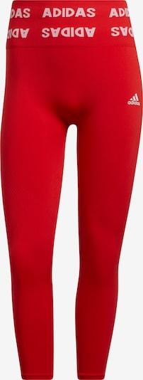 ADIDAS PERFORMANCE Παντελόνι φόρμας σε κόκκινο φωτιάς / λευκό, Άποψη προϊόντος