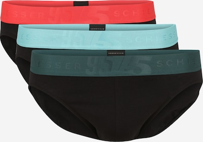 SCHIESSER Slip en bleu clair / vert foncé / rouge clair / noir, Vue avec produit