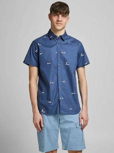 JACK & JONES Overhemd in de kleur Donkerblauw / Kaki / Zwart / Wit: Vooraanzicht