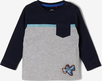 s.Oliver Shirt in dunkelblau / graumeliert: Frontalansicht