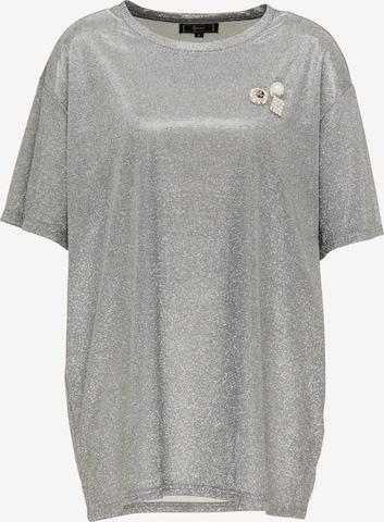 faina - Camiseta talla grande en plata