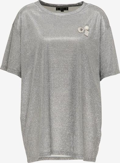 faina T-shirt oversize en argent, Vue avec produit