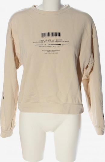 CLOCKHOUSE by C&A Sweatshirt in L in creme / schwarz, Produktansicht