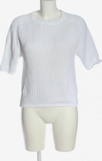 SELECTED Kurzarmpullover in XS in weiß, Produktansicht