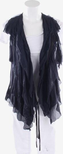 Lanvin Seidenweste in S in dunkelblau / schwarz, Produktansicht