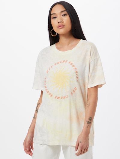 American Eagle Oversized paita 'SUN' värissä sahrami / pastellinkeltainen / lohi: Näkymä edestä