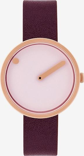 Picto Uhr in gold / weinrot / weiß, Produktansicht