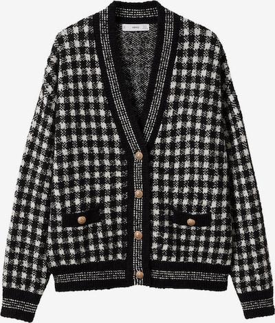 MANGO Knit Cardigan 'Magolita' in Black / White, Item view