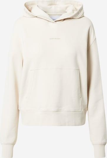 Calvin Klein Jeans Sweatshirt i creme, Produktvisning