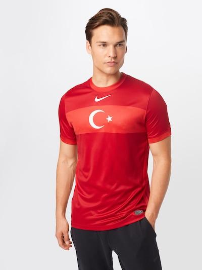 NIKE Fußballtrikot 'Türkei 2021' in rot / feuerrot / weiß: Frontalansicht
