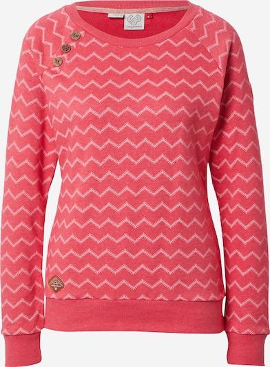 Ragwear Sweatshirt 'DARIA' in rot / weiß: Frontalansicht