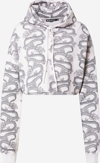 Motel Sweat-shirt 'ROKY' en gris clair / blanc, Vue avec produit