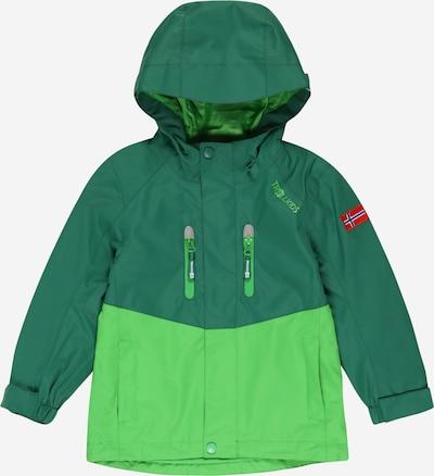 TROLLKIDS Jacke 'Nusfjord' in hellgrün / dunkelgrün, Produktansicht