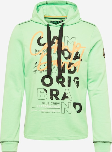 CAMP DAVID Sweat-shirt en vert / orange / noir, Vue avec produit