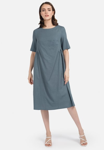 HELMIDGE A-Linien-Kleid in dunkelgrün, Modelansicht