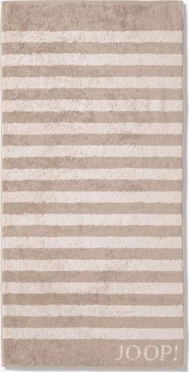 JOOP! Handdoek in de kleur Beige / Wit, Productweergave