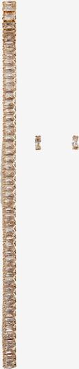 MANGO Boucles d'oreilles 'DIANA' en or / transparent, Vue avec produit
