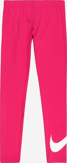 Nike Sportswear Legingi 'Favorites' rozīgs / balts, Preces skats