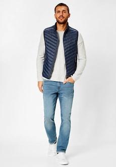 Prošívaná vesta REDPOINT v tmavě modré barvě
