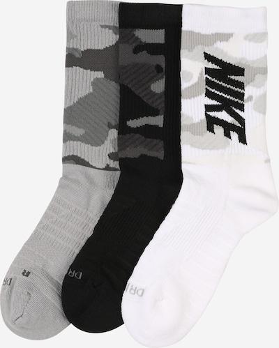 Sportinės kojinės iš NIKE , spalva - pilka / juoda / balta, Prekių apžvalga