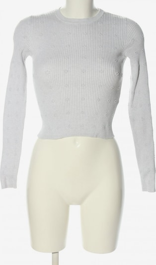 Bershka Cropped Shirt in S in hellgrau, Produktansicht