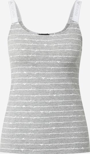 Emporio Armani Schlafshirt in graumeliert / weiß, Produktansicht