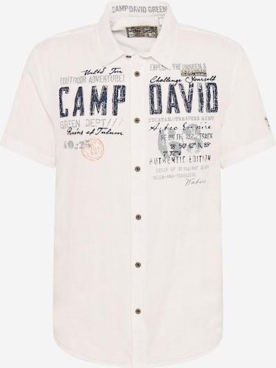 CAMP DAVID Krekls kamuflāžas / pelēks / gaiši oranžs / balts, Preces skats