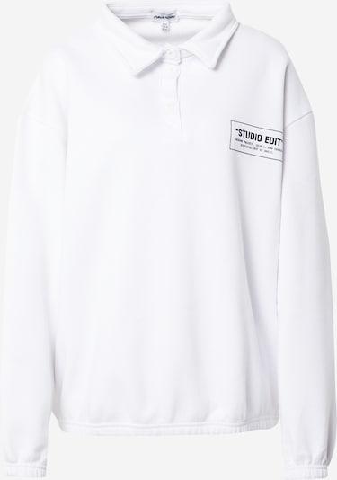 Public Desire Sweatshirt 'STUDIO EDIT' in schwarz / weiß, Produktansicht