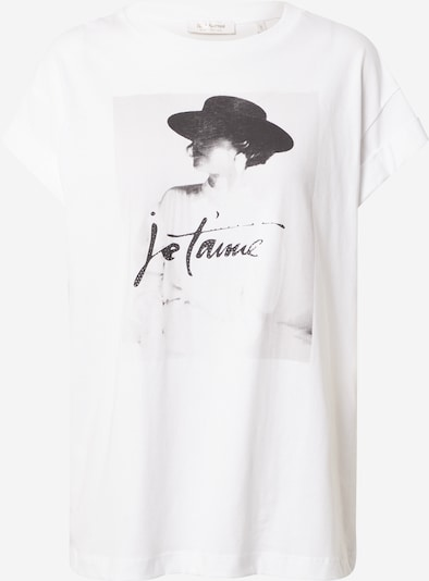 Rich & Royal T-Shirt 'Je t'aime' in weiß, Produktansicht