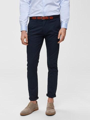 Pantalon chino 'SHHYARD SLIM FIT' SELECTED HOMME en bleu