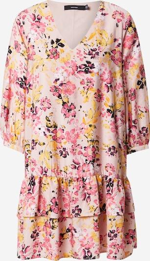 VERO MODA Šaty 'GIGI' - žltá / ružová / rosé / čierna: Pohľad spredu