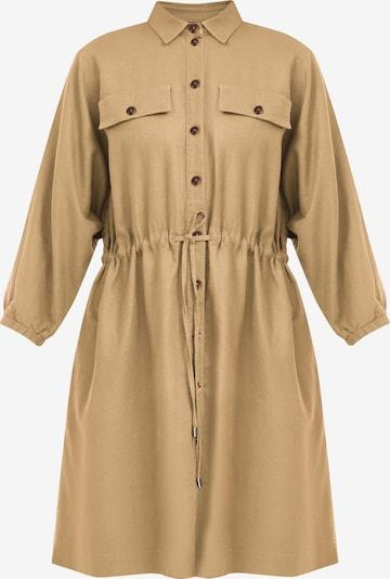 Finn Flare Langarm-Kleid in ocker, Produktansicht