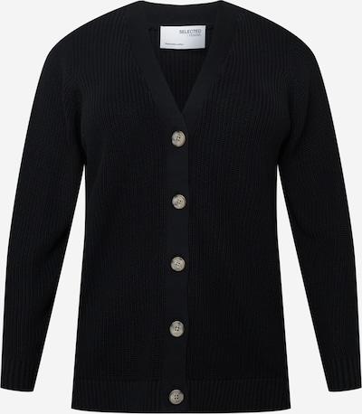 Geacă tricotată 'SLFAMMY' Selected Femme Curve pe negru, Vizualizare produs