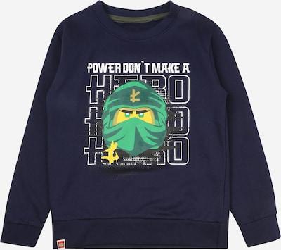 LEGO WEAR Sweatshirt in navy / gelb / grün / schwarz / weiß, Produktansicht