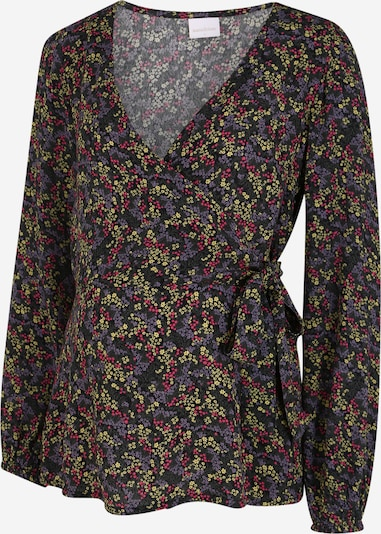 MAMALICIOUS Bluse 'FELUCA' i gul / mørkelilla / mørk pink / sort, Produktvisning