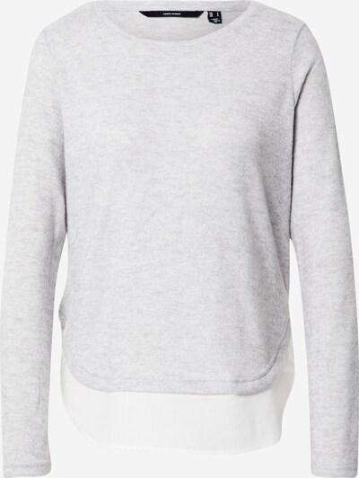 VERO MODA Pullover 'BIRGIT' in hellgrau / weiß, Produktansicht