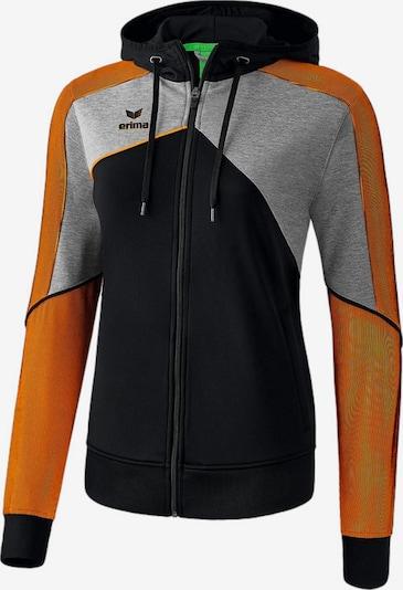 ERIMA Jacke in graumeliert / orange / schwarz, Produktansicht
