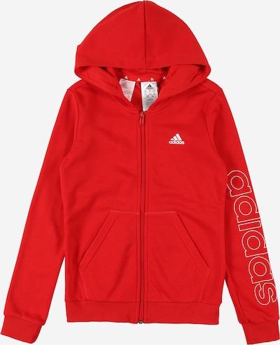 Bluză cu fermoar sport ADIDAS PERFORMANCE pe roși aprins / alb, Vizualizare produs