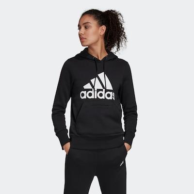 ADIDAS PERFORMANCE Sportsweatshirt in schwarz / weiß: Frontalansicht