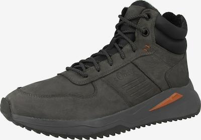 s.Oliver Sneaker in grau / orange, Produktansicht