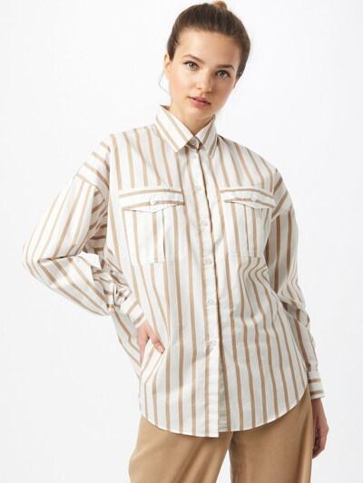 Camicia da donna 'C_Beruno' BOSS di colore sabbia / bianco, Visualizzazione modelli