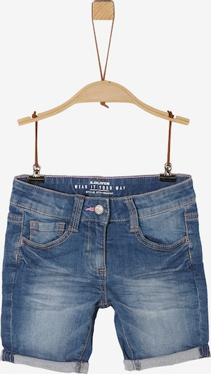 s.Oliver Jeans-Shorts in blau: Frontalansicht