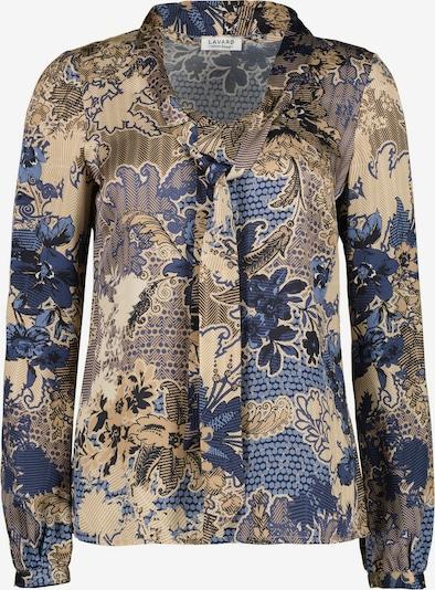 Lavard Blouse mit verzierter Krawatte am Ausschnitt in beige / blau / marine / hellbraun, Produktansicht