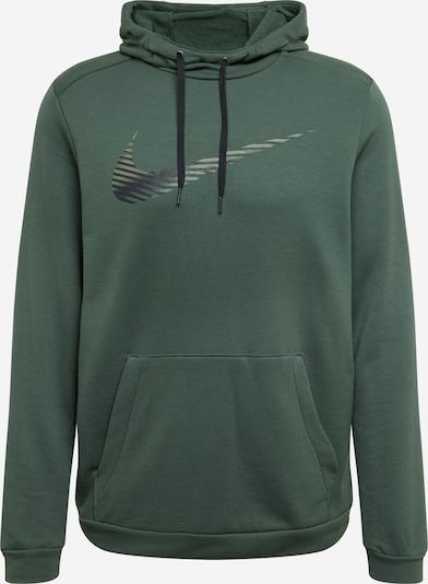 NIKE Športna majica | temno zelena / črna barva, Prikaz izdelka
